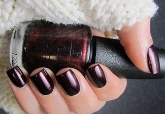 Осенний дизайн коротких ногтей - фото 36