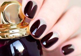 Осенний дизайн коротких ногтей - фото 37