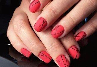 Осенний дизайн коротких ногтей - фото 38