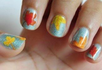 Осенний дизайн коротких ногтей - фото 4