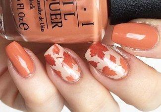 Осенний дизайн коротких ногтей - фото 40