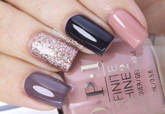 Осенний дизайн коротких ногтей - фото 41