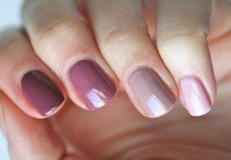 Осенний дизайн коротких ногтей - фото 42