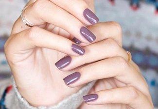 Осенний дизайн коротких ногтей - фото 44