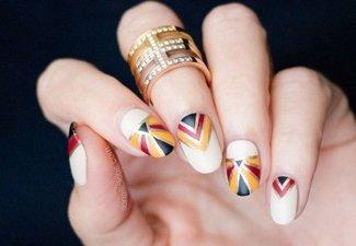 Осенний дизайн коротких ногтей - фото 46
