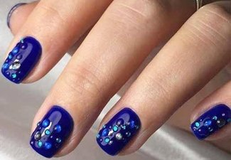 Осенний дизайн коротких ногтей - фото 47