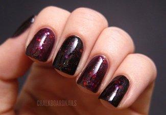 Осенний дизайн коротких ногтей - фото 48