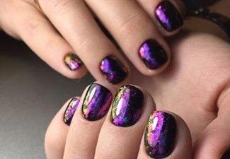 Осенний дизайн коротких ногтей - фото 49