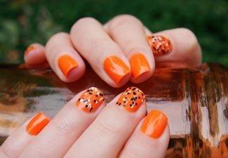 Осенний дизайн коротких ногтей - фото 5