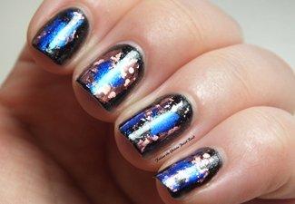 Осенний дизайн коротких ногтей - фото 50