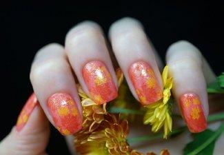 Осенний дизайн коротких ногтей - фото 51
