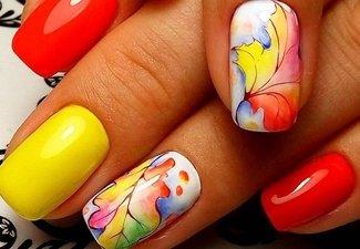 Осенний дизайн коротких ногтей - фото 52
