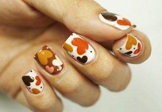 Осенний дизайн коротких ногтей - фото 54