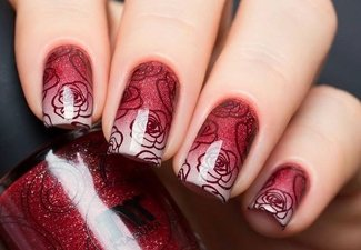 Осенний дизайн коротких ногтей - фото 56