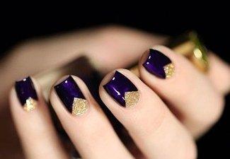 Осенний дизайн коротких ногтей - фото 57