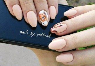 Осенний дизайн коротких ногтей - фото 59