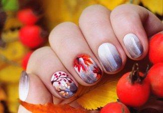 Осенний дизайн коротких ногтей - фото 60