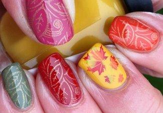 Осенний дизайн коротких ногтей - фото 63
