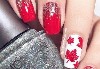 Осенний дизайн коротких ногтей - фото 64