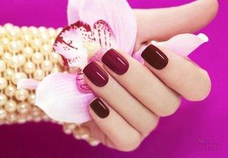 Осенний дизайн коротких ногтей - фото 66