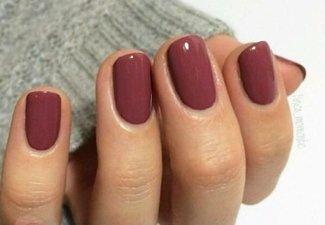 Осенний дизайн коротких ногтей - фото 7