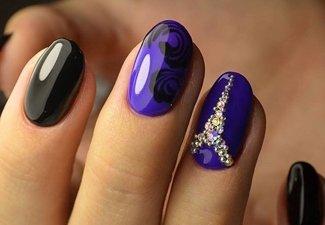Осенний дизайн коротких ногтей - фото 8