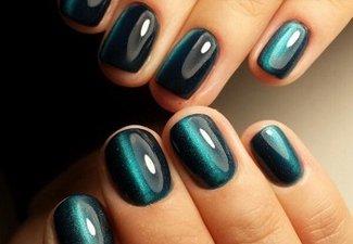 Осенний дизайн коротких ногтей - фото 9
