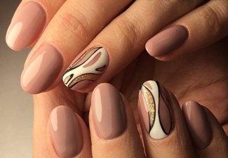 Варианты ногтей с осенними рисунками - фото 32