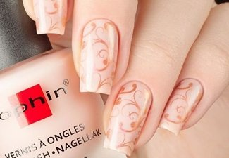 Варианты ногтей с осенними рисунками - фото 5