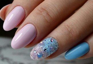 Новинки дизайна ногтей со стразами - фото 1