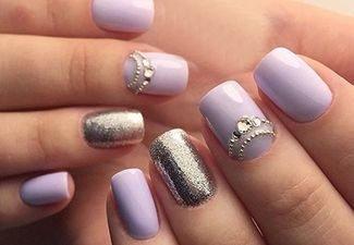 Новинки дизайна ногтей со стразами - фото 10