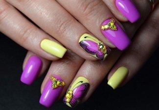 Новинки дизайна ногтей со стразами - фото 12
