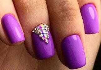 Новинки дизайна ногтей со стразами - фото 13