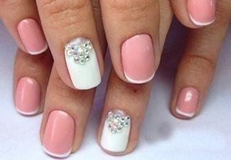 Новинки дизайна ногтей со стразами - фото 16
