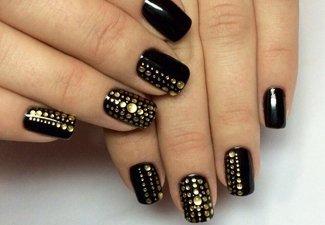 Новинки дизайна ногтей со стразами - фото 2
