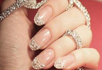 Новинки дизайна ногтей со стразами - фото 24