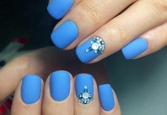 Новинки дизайна ногтей со стразами - фото 26