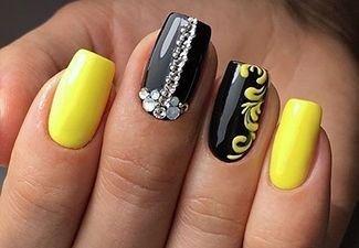 Новинки дизайна ногтей со стразами - фото 28