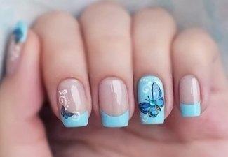Новинки дизайна ногтей со стразами - фото 29