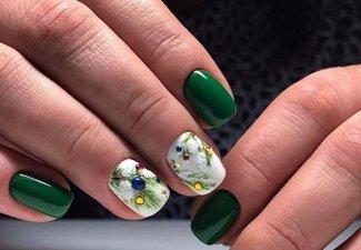 Новинки дизайна ногтей со стразами - фото 3