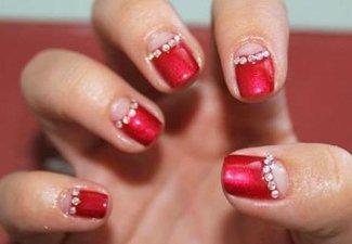 Новинки дизайна ногтей со стразами - фото 33