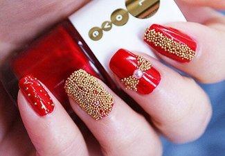 Новинки дизайна ногтей со стразами - фото 35