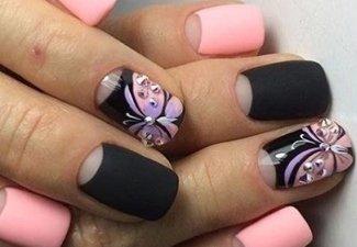 Новинки дизайна ногтей со стразами - фото 37