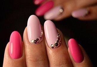 Новинки дизайна ногтей со стразами - фото 45