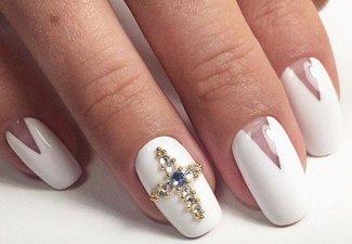 Новинки дизайна ногтей со стразами - фото 50