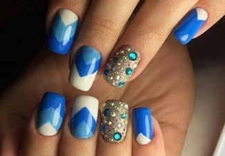 Новинки дизайна ногтей со стразами - фото 6