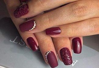 Новинки дизайна ногтей со стразами - фото 8