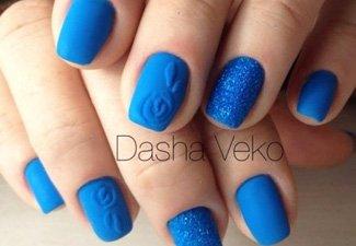 Синий маникюр - фото 109