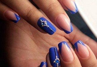 Синий маникюр - фото 135
