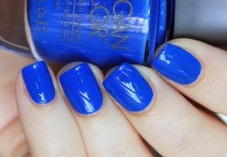 Синий маникюр - фото 17
